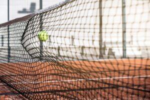 padel tennis net og bold